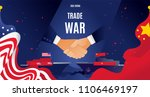 vector flat china and usa trade ... | Shutterstock .eps vector #1106469197