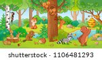 vector illustration with cute... | Shutterstock .eps vector #1106481293