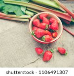 strawbetty and rhubarb toned... | Shutterstock . vector #1106491307