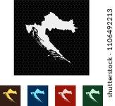 map of croatia   Shutterstock .eps vector #1106492213
