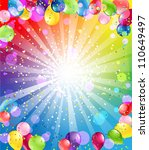 festive background with balloons | Shutterstock .eps vector #110649497