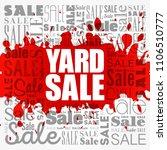yard sale word cloud collage ...   Shutterstock .eps vector #1106510777