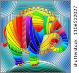illustration in stained glass... | Shutterstock .eps vector #1106522027