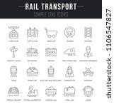 set of outline signs and... | Shutterstock .eps vector #1106547827