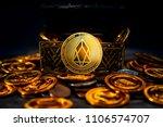 eos.io crypto currency was...   Shutterstock . vector #1106574707