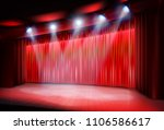 theater stage before the... | Shutterstock .eps vector #1106586617