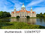 Stock photo city hall of hannover germany in summer 110659727