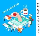 internet medicine isometric... | Shutterstock .eps vector #1106601227