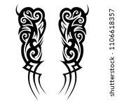 tattoos ideas sleeve designs  ... | Shutterstock .eps vector #1106618357
