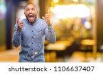 african american man with beard ...   Shutterstock . vector #1106637407