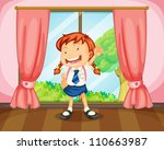 illustration of a girl with... | Shutterstock .eps vector #110663987