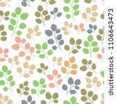 seamless pattern with leaf....   Shutterstock .eps vector #1106643473
