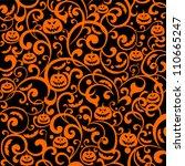 halloween background. vector... | Shutterstock .eps vector #110665247