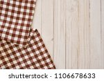 two napkins in a cage  cloth on ...   Shutterstock . vector #1106678633