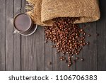 rashes of coffee beans from a...   Shutterstock . vector #1106706383