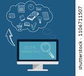 digital marketing vector... | Shutterstock .eps vector #1106711507