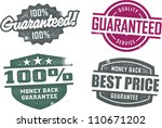 Vintage Style Guarantee Service Stamps - stock vector