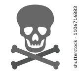 skull with crossbones  jolly...   Shutterstock .eps vector #1106716883