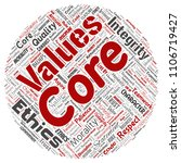 vector conceptual core values...   Shutterstock .eps vector #1106719427