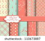 set of abstract vector paper... | Shutterstock .eps vector #110673887