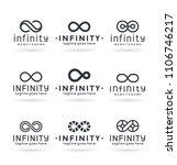 infinity vector logo design... | Shutterstock .eps vector #1106746217