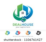 deal house logo symbol template ... | Shutterstock .eps vector #1106761427