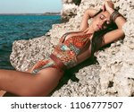 fashion outdoor photo of...   Shutterstock . vector #1106777507