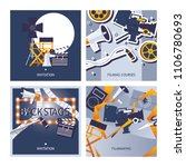 vector cards set dedicated to... | Shutterstock .eps vector #1106780693