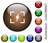 camera flash mode white icons... | Shutterstock .eps vector #1106788067