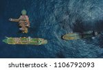 Aerial View Of A Offshore...