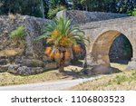 fragment of ancient stone... | Shutterstock . vector #1106803523