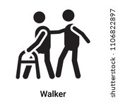 walker icon vector isolated on... | Shutterstock .eps vector #1106822897
