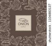 background with onion  rings ... | Shutterstock .eps vector #1106883137