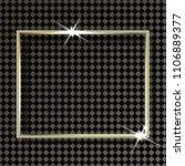 golden frame with lights... | Shutterstock .eps vector #1106889377
