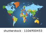 color world map vector | Shutterstock .eps vector #1106900453