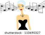 image of a beautiful girl... | Shutterstock .eps vector #110690327