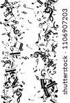 black musical notes on white...   Shutterstock .eps vector #1106907203