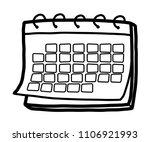 calendar  cartoon vector and... | Shutterstock .eps vector #1106921993