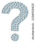 faq collage made with gears... | Shutterstock .eps vector #1106933423