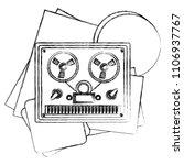reel to reel tape recorder...   Shutterstock .eps vector #1106937767