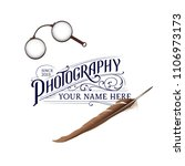 vintage photography logo with... | Shutterstock .eps vector #1106973173