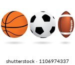 sports balls. vector... | Shutterstock .eps vector #1106974337