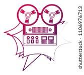 reel to reel tape recorder...   Shutterstock .eps vector #1106976713