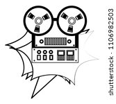 reel to reel tape recorder...   Shutterstock .eps vector #1106982503