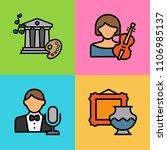 set of arts icons. vector... | Shutterstock .eps vector #1106985137