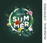 hello summer vector... | Shutterstock .eps vector #1107015023