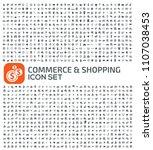 e commerce and shopping vector... | Shutterstock .eps vector #1107038453