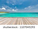 wooden floor with beautiful... | Shutterstock . vector #1107045293