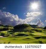 golf place with wonderful green | Shutterstock . vector #110705027