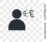 word of mouth vector icon... | Shutterstock .eps vector #1107066767